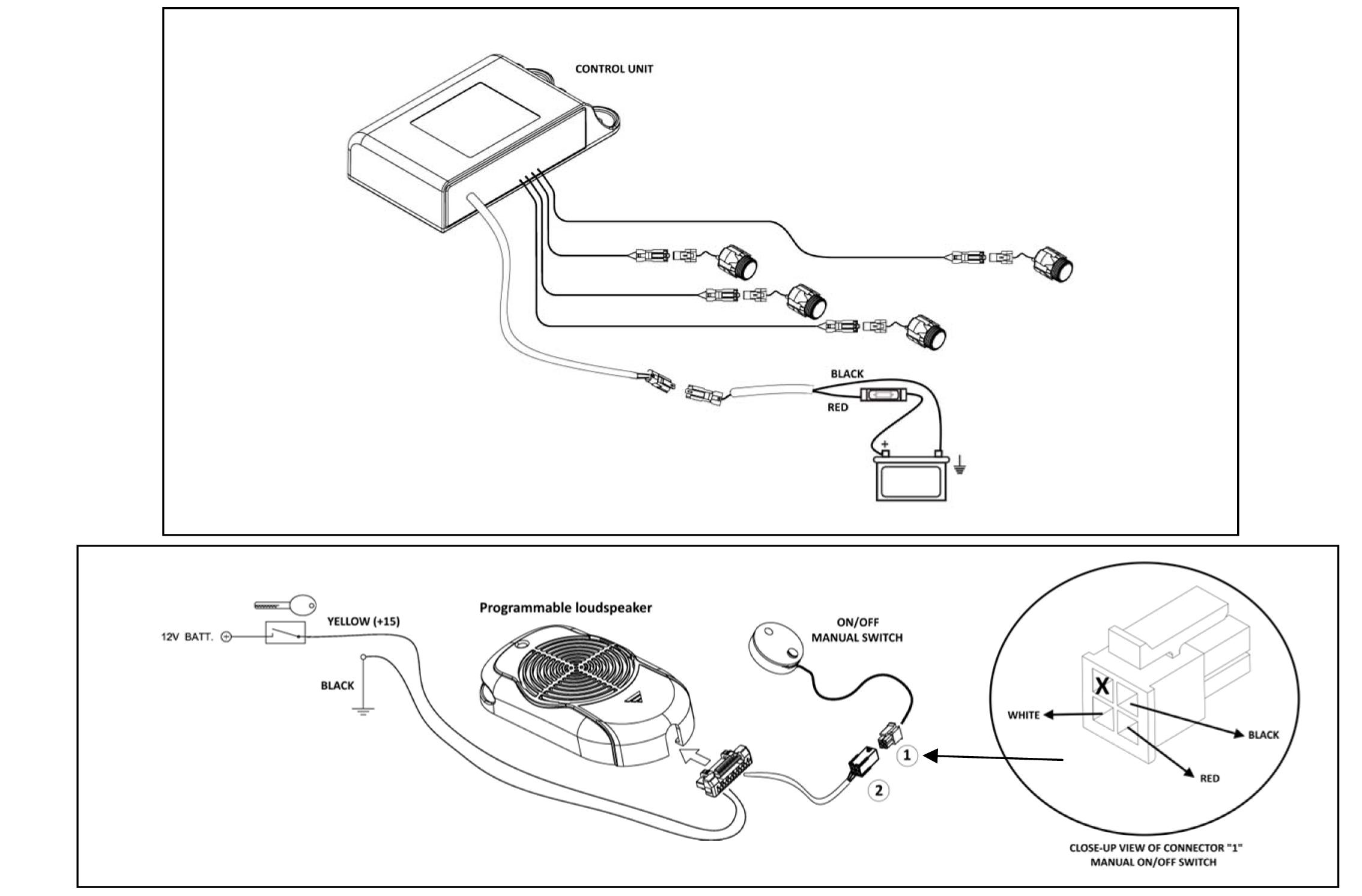 avs gemini 514fw wireless front parking sensor kit