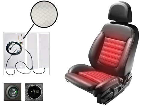 Heated seat kits